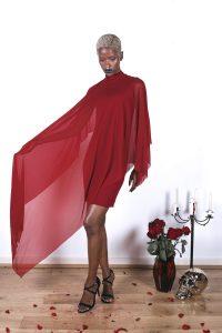 Veil Dress – Crimson
