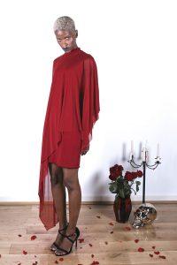 Veil Dress – Crimson2