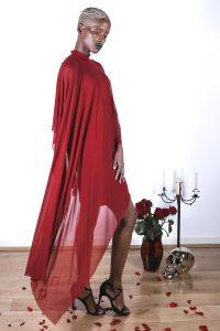 Veil Dress – Crimson3