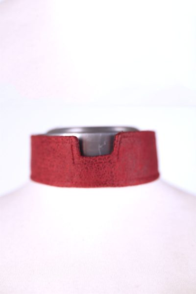LeatherCollarRed
